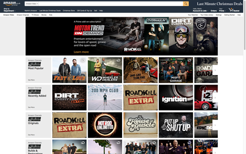 discovery launches motor trend ondemand on amazon channels uk tvreal. Black Bedroom Furniture Sets. Home Design Ideas